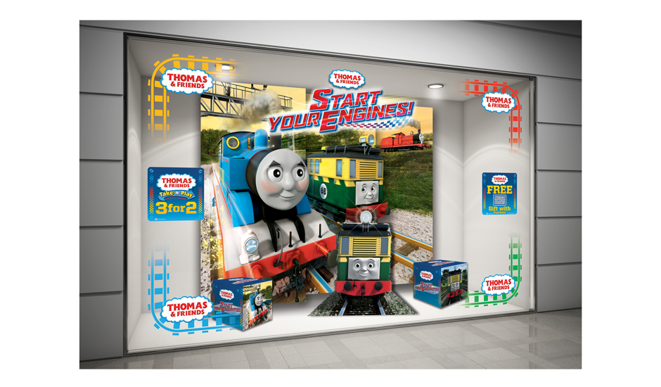 Toymaster Thomas window display